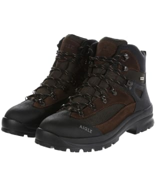Men's Aigle Huntshaw MTD Walking Boots - Dark Brown
