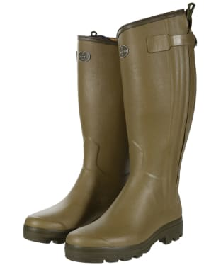 Men's Le Chameau Chasseur Wellington Boots - 46cm Calf - Green