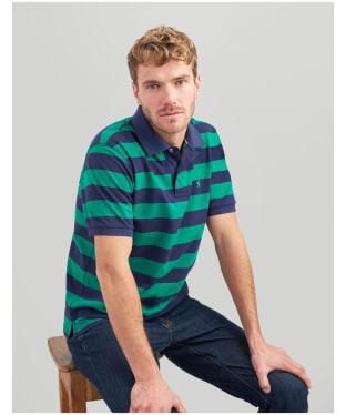 Men's Joules Filbert Polo Shirt - Green / Navy Stripe
