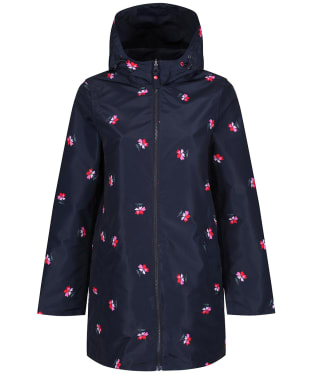 Women's Joules Dockland Reversible Waterproof Jacket - Navy Posy