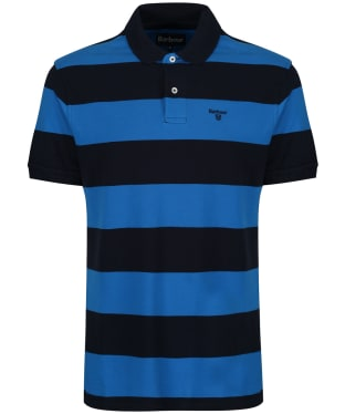 64295d139 Men s Barbour Harren Stripe Polo Shirt - Sport Blue
