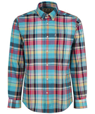 Men's Barbour Madras 2 Regular Shirt - Aqua