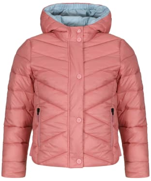 Girls Barbour Isobath Quilted Jacket, 2-9yrs - Vintage Rose