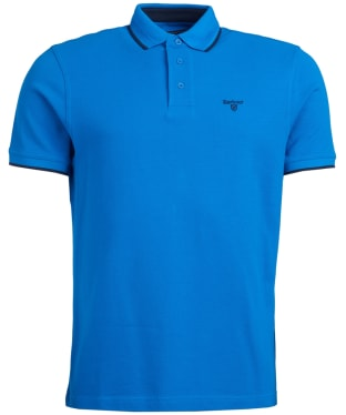 Men's Barbour Ambleside Tipped Polo Shirt - Sport Blue
