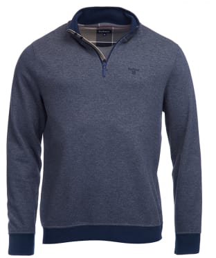 Men's Barbour Whiteside Half Zip Sweater - Navy