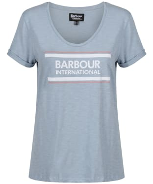 Women's Barbour International Perez Tee - Ice Blue