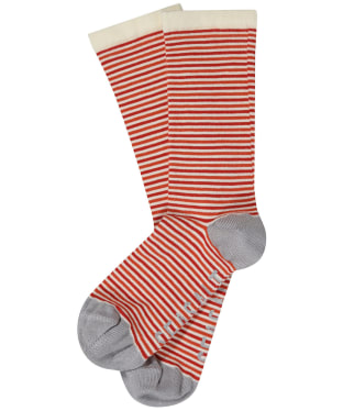 Women's Seasalt Sailor Socks - Mini Duet Dark Satsuma