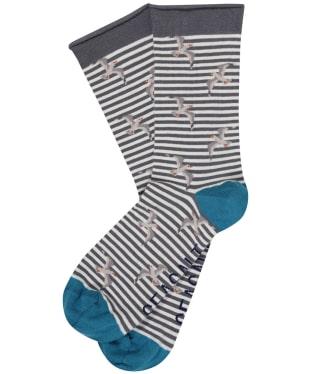 Women's Seasalt Arty Socks - Flying Gull Flint