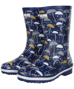 Women's Seasalt Deck Wellies - Brolly Geo Dark Voyage