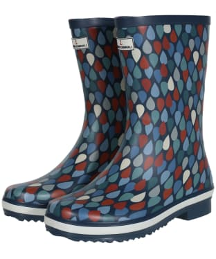 Women's Seasalt Deck Wellies - Lino Drops Granite
