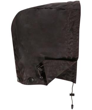 Men's Barbour Waxed Cotton Plain Hood - Rustic