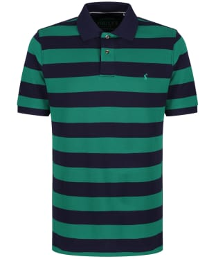 Men's Joules Filbert Polo Shirt - Green / Navy Stripe