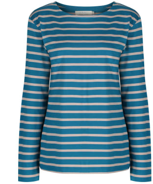 Women's Seasalt Sailor Shirt - Breton Mid Teal Parsnip