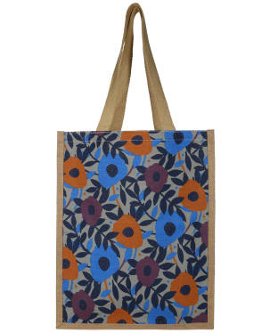 Women's Seasalt Jute Shopper Bag - Flower Collage Cobble