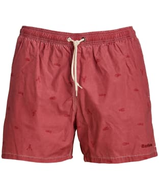 Men's Barbour Lobster Swim Shorts - Red