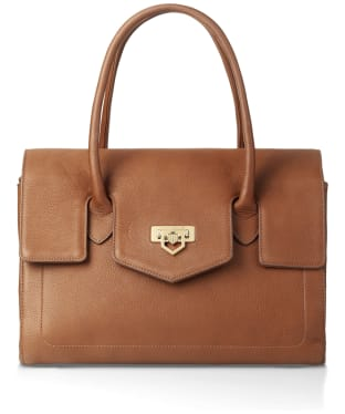 Women's Fairfax & Favor Loxley Leather Shoulder Bag - Tan Leather