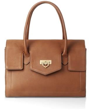 Women's Fairfax & Favor Loxley Leather Shoulder Bag - Tan Leather