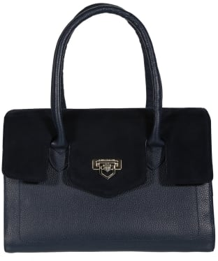 Women's Fairfax & Favor Loxley Leather Shoulder Bag - Navy Leather