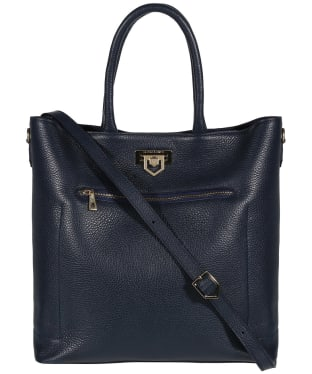 Women's Fairfax & Favor Loxley Leather Tote Bag - Navy Leather