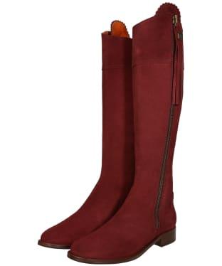 Women's Fairfax & Favor Flat Regina Boots - Oxblood Suede