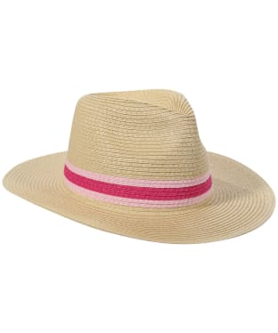 Women's Joules Dora Fedora Hat - Pink Band