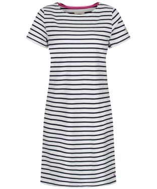 Women's Joules Riviera Dress - Cream / Navy Stripe