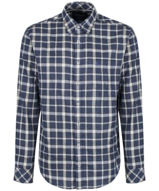 Men's Joules Welford Textured Shirt - Navy Check