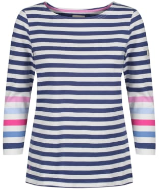 Women's Joules Harbour Top - Cream / Blue Stripe