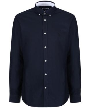 Men's Crew Clothing Plain Oxford Shirt - Navy
