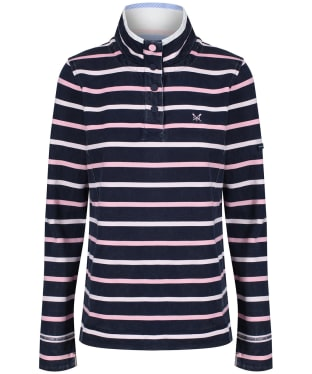Women's Crew Clothing Padstow Pique Sweatshirt - Navy Multi