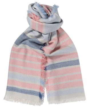 Women's Barbour Freya Stripe Wrap - Blue / Pink / Grey