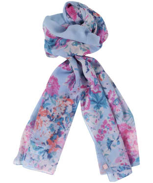 Women's Joules Wensley Scarf - Blue Border Floral