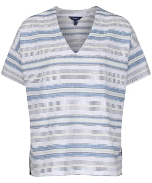 Women's GANT Multi-striped Top - White