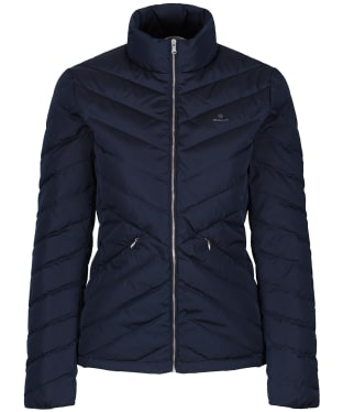 Women's GANT Light Down Jacket - Marine