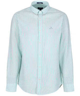 Men's GANT Tech Prep™ Seersucker Stripe Shirt - Pool Green