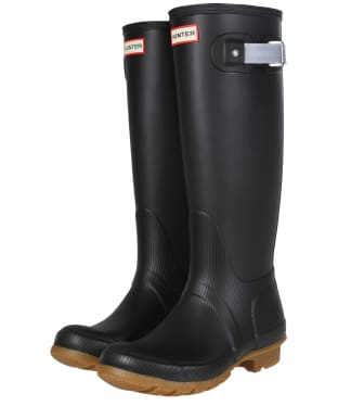 Women's Hunter Original Seaton Tall Wellington Boots - Hunter Black / Gull Grey / Gum