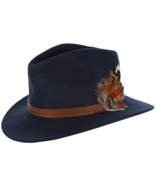 Alan Paine Richmond Unisex Felt Hat - Navy