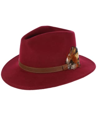 Alan Paine Richmond Unisex Felt Hat - Wine