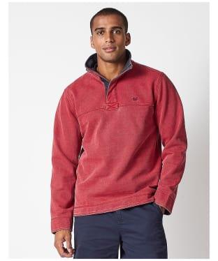 Men's Crew Clothing Padstow Pique Sweatshirt - Crimson