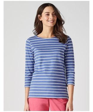 Women's Crew Clothing Essential Breton Top - Amparo Blue / White
