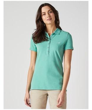 Women's Crew Clothing Classic Polo Shirt - Spring Green