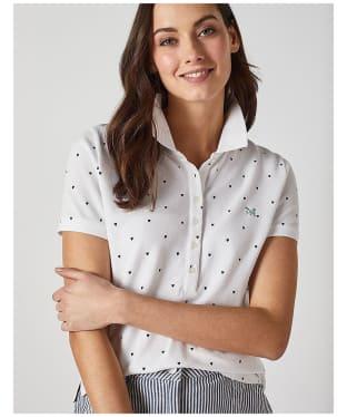 Women's Crew Clothing Classic Polo Shirt - Heart Print