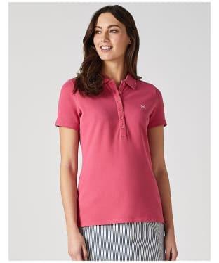 Women's Crew Clothing Classic Polo Shirt - Summer Pink
