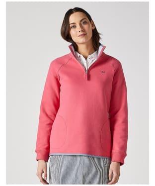 Women's Crew Clothing ½ Zip Sweatshirt - Summer Pink