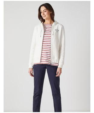 Women's Crew Clothing Zip Through Hoody - White Linen