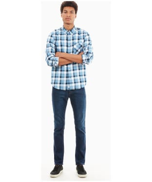Men's Timberland Souhegan River Twill Checks Shirt - Strong Blue