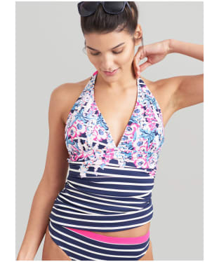 Women's Joules Marissa Tankini Top - Pink / Navy