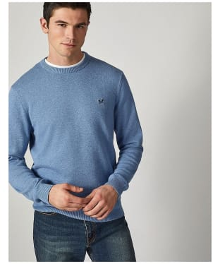 Men's Crew Clothing Foxley Crew Neck Sweater - Relaxed Blue Marl