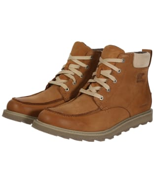 Men's Sorel Madson™ Moc Toe Waterproof Boots - Camel Brown