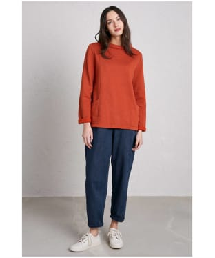 Women's Seasalt Bareroot Sweatshirt - Dark Satsuma